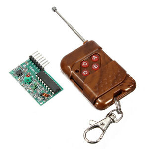 10pcs 4 Channel Wireless Rf Remote Control Transmitter Receiver Module
