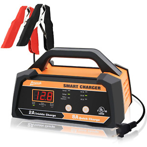 Ampeak 6v 12v Smart Car Battery Charger And Maintainer 2a 8a Fully Automatic