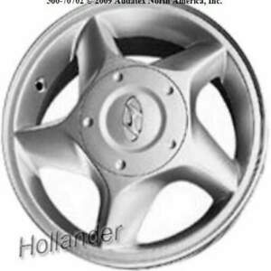 Hyundai Accent Painted 13 Inch Oem Wheel 2000 2002