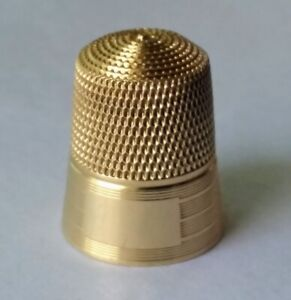 14k Simon Brothers Gold Thimble Size 9