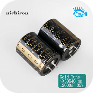 1 5pcs Nichicon 35v12000uf Kg Gold Tune Audio Filter Electrolytic Capacitor