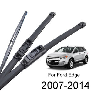 X3 Front Rear Windshield Wiper Blades For Ford Edge 2007 2008 2009 2010 2011