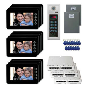 Office Building Security Video Intercom System Kit With 13 7 Color Monitors