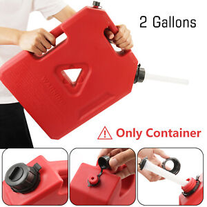 2 Gallon Fuel Pack Gas Gasoline Jerry Can Spare Fuel Container Off Road For Jeep