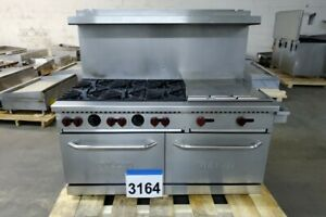 3164 New S d Vulcan 60 Range Double Ovens 6 burners 24 Griddle Sx60f 6b24n