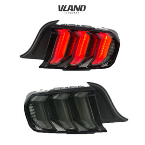 Vland 5 Model Led Tail Lights For Ford Mustang 2015 2020 Smoked Assembly