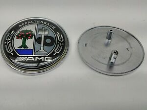 1 Pc Mercedes Amg Affalterbach Front Hood Color Badge Emblem 2 24 With 2 Pins