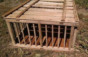 Vintage Wood Chicken Poultry Crate 53 X 23 Urban Farm Rural Primitive Rustic