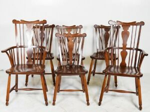 Set Of Six Vintage 1954 L J G Stickley Dining Room Chairs