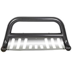 Stainless Chrome Bull Bar Push Bumper Grill Grille Guard For 05 15 Toyota Tacoma