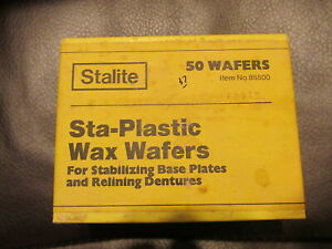 Stalite Sta plastic Wax Wafers For Stabilizing Base Plates And Relining Dentures