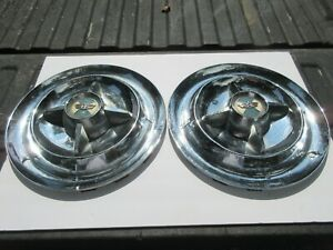 Pair Of 1955 1956 Dodge Lancer Hubcaps Wheel Cover