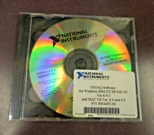 National Instruments N daq Software For Windows 2000 np xp me 9x version 6 9 3