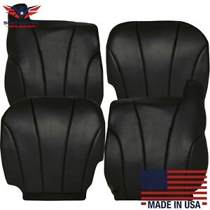 1999 2002 Gmc Sierra Work Truck Synthetic Leather Seat Covers Dark Graphite Gray