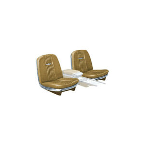 1964 Ford Thunderbird Front Bucket Seat Covers Vinyl Medium Palomino 44 Trim
