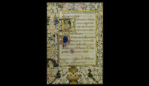 Book Of Hours Illuminated Manuscript High Quality Re Production New