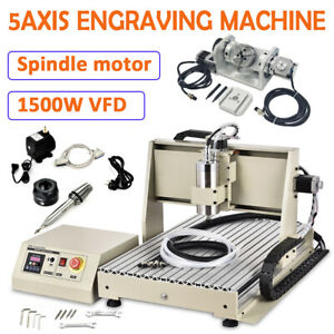 6040 5axis 1500w Cnc Router Engraving Machine Metal Carving Ball Screw Milling