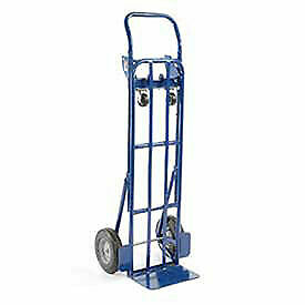 Steel 2 in 1 Convertible Hand Truck With Semi pneumatic Wheels Lot Of 1