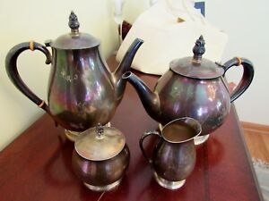 Sterling Silver International Royal Danish Coffee And Tea Set 4 Pieces 71 6 Oz