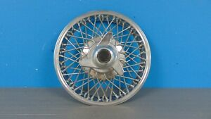 Corvair Monza 13 Chrome Wire Spoke Hub Cap Wheel Cover W Spinner Fits Many