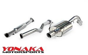 Yonaka Honda Cr V 1996 2001 Stainless Steel Catback Exhaust 2 0l Fwd Awd Rd1 Rd2