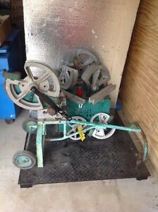Greenlee 1818 Mechanical Bender 1 2 2 Emt Imc Rigid 6 Shoes With Follow Bar