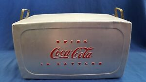Vintage Coca Cola Ice Chest From 50's with Handles, Ships Free