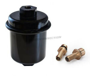 Black High Flow Racing Performance Washable Fuel Filter For 95 00 Honda Civic