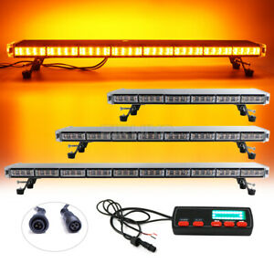 47 55 63 Amber White Led Warning Strobe Light Bar Back W Brake Turn Lights