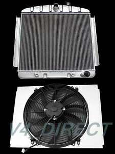 Kks Aluminum Radiator Shroud 16 Fan Fit 1955 57 Chevy Bel Air Factory 6cyl