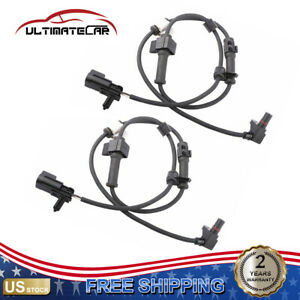 Pair Front Abs Wheel Speed Sensor For 2002 2009 Chevrolet Gmc Buick 15158254