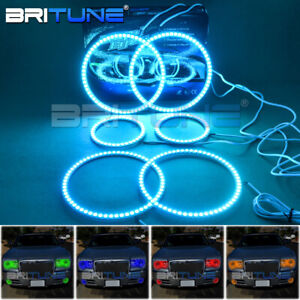 Rgb Led Halo Rings Angel Eyes Fog Lights For Chrysler 300c Headlights Ir Remote