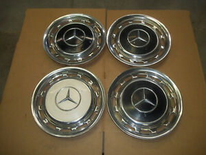 Mercedes Benz 220 230 280 300 450 500 Hubcap Rim Wheel Cover Hub Cap 57002 Clips