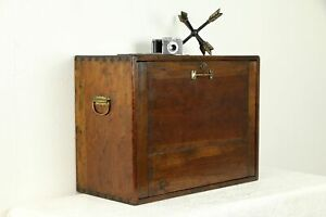 Country Pine Antique Tool Or Jewelry Chest Or Collector Cabinet 31630