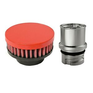 Valve Cover Breather Oil Cap For 2010 13 Mazdaspeed3 2 3l Mzr Wrinkle Red