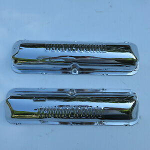 1962 63 64 390 Thunderbird Stamped 6 Pack Factory Rechrome Valve Covers W Nos