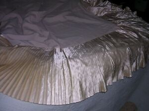 A Vintage Antique Bridal Satin 40 S Bed Skirt Dust Ruffle For Coverlet