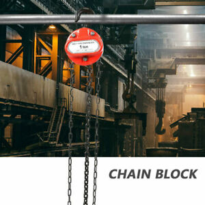 Lifting 1 Ton Manual Operated Chain Fall Engine Hoist Block And Tackle Lift Tool