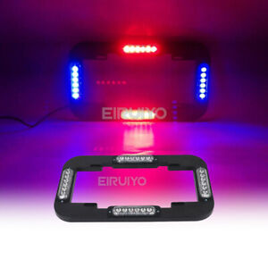 13 6 24w Led Warn Traffic Adviser Strobe Signal License Plate Light Red Blue