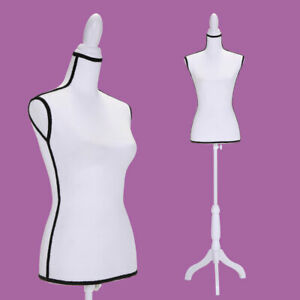 Torso Female Mannequin Clothing Dress Form Display W Wooden Tripod Stand New