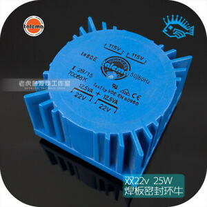 1pcs Double 22v 25w Talema Pcb Welded Plate Seal Ring Cattle Transformer 25va