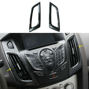 For Ford Focus Rs St Carbon Fiber Color Dashboard Air Conditioner Vent Trim