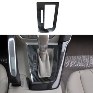 Carbon Fiber Color Gear Shift Panel Cover Fit For Ford Focus 2012 2014 At Lhd