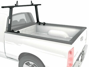 Adjustable Pickup Truck Bed Ladder Rack Aluminum Single Bar Set Utility Lumber