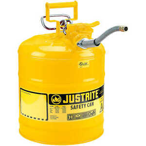 Justrite Type Ii Accuflow Safety Can Yellow diesel 5 gallon