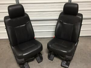 1999 2016 Ford F250 F350 F450 Super Duty Front Seats Black Leather