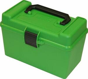 MTM H50-R-MAG Deluxe 50-Round Rifle Ammo Box 300 Win Mag 30-30 375 HH 7mm Rem