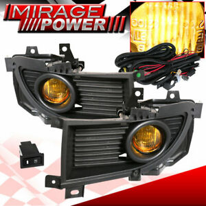 For 2004 2006 Mitsubishi Lancer Driving Yellow Bumper Fog Lights Replacement Jdm