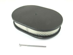 12 Oval Smooth Top Air Cleaner W Filter Element Black Bpe 1106b