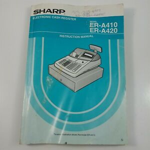 Sharp Cash Register Er a420 Replacement Operator Instruction Manual Well Used